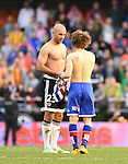 Valencia CF's  Aymen Abdennour  and Sporting de Gijon's Halilovic  during La Liga match. January 31, 2016. (ALTERPHOTOS/Javier Comos)