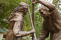 Robin Hood battles Friar Tuck at Sherwood Forest Visitor Centre
