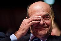 Roma, 25 Gennaio, 2013. Pier Luigi Bersani interviene alla conferenza della CGIL