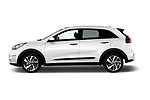 Car Driver side profile view of a 2017 KIA Niro Sense 5 Door SUV Side View
