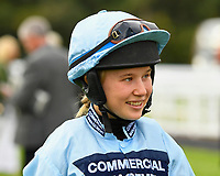 Jockey Sophie Smith during Evening Racing at Salisbury Racecourse on 3rd September 2019