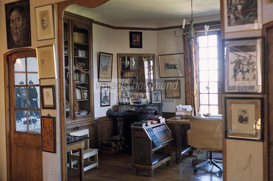 Europe/France/89/Yonne/Vézelay: Maison de Jules Roy - Le bureau de l'écrivain