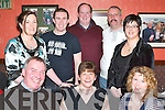 50TH BIRTHDAY: Bernadette McDonnell, Gallows Field (seated centre), celebrated her 50th birthday in Kirby's Brogue Inn with family and friends on Friday night. Pictured l-r: Brian Hollywood, Bernadette McDonnell and Ann Shanahan. Back row l-r: Miriam Brosnan, Owen O'Mahoney, John Browne, Dan Quirke and Teresa Walsh.   Copyright Kerry's Eye 2008