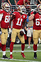 August 26 2016: Wide Receiver Quinton Patton celebrating after scoring a touchdown of the San Francisco 49ers before a 21-10 loss to the Green Bay Packers at Levi's Stadium in Santa Clara, Ca.