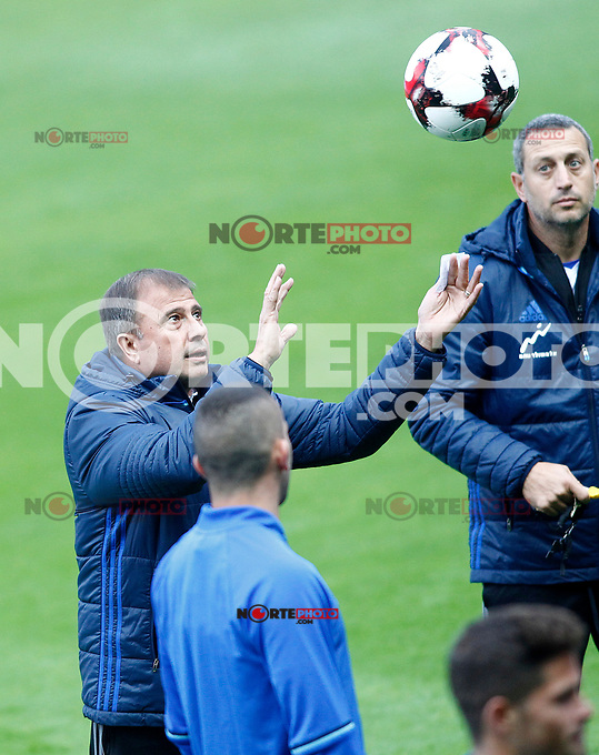 Israel's coach Elisha Levy during training session. March 23,2017.(ALTERPHOTOS/Acero) /NortePhoto.com