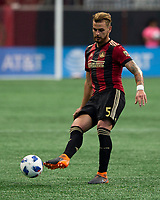 Atlanta, Georgia - Saturday, April 28, 2018: Atlanta United defeated the Montreal Impact, 4-1, in front of a crowd of 45,039 at Mercedes-Benz Stadium.