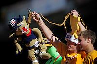 Nov. 28, 2009; Tempe, AZ, USA; Arizona State Sun Devils fans prior to the game against the Arizona Wildcats at Sun Devil Stadium. Mandatory Credit: Mark J. Rebilas-