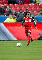 16 April 2011: Toronto FC midfielder Oscar Cordon #16 in action during an MLS game between D.C. United and the Toronto FC at BMO Field in Toronto, Ontario Canada..D.C. United won 3-0.