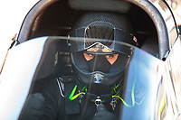 Oct 19, 2019; Ennis, TX, USA; NHRA top alcohol dragster driver Jasmine Salinas during qualifying for the Fall Nationals at the Texas Motorplex. Mandatory Credit: Mark J. Rebilas-USA TODAY Sports