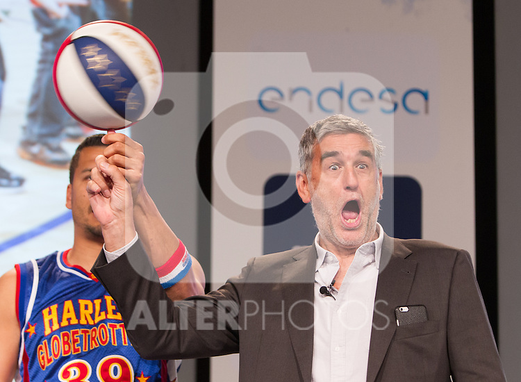 Juanma Iturriaga during presentation of the Liga Endesa playoff. May 23,2016. (ALTERPHOTOS/Rodrigo Jimenez)