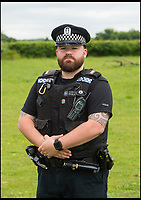 BNPS.co.uk (01202 558833)<br /> Pic: PhilYeomans/BNPS<br /> <br /> Hampshire Police Countryside officer..........<br /> <br /> On a wing and a prayer...Salisbury Cathedral's Peregrine falcon takes to the skies once more after being illegally shot down.<br /> <br /> 'Peter' the peregrine has been nursed back to health after miraculously recovering from being illegally shot.<br /> <br /> Peter was one of the first peregrine chicks to be hatched on the tower at historic Salisbury Cathedral, Wilts, for more than six decades.<br /> <br /> But the two-year-old bird was found gravely injured by 18-year-old Shannon Hamshare 12 miles away on farmland near Stockbridge, Hants, in March this year.<br /> <br /> He was taken to the nearby Hawk Conservancy Trust where X-rays showed the protected bird of prey had a stable fracture wing that was consistent with a gunshot wound. <br /> <br /> Peter was nursed back to health and released in meadow.