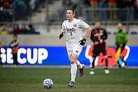 Notre Dame Fighting Irish midfielder Connor Klekota (3). The Notre Dame Fighting Irish defeated the Maryland Terrapins 2-1 during the championship match of the division 1 2013 NCAA  Men's Soccer College Cup at PPL Park in Chester, PA, on December 15, 2013.