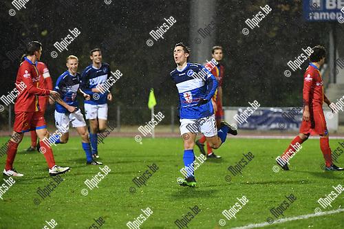 2016-11-12 / Voetbal / Seizoen 2016-2017 / FC Turnhout - Wellen / Steven Dillien scoorde de 2-0<br /> <br /> ,Foto: Mpics.be