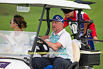 Boris Becker drives a golf cart during the World Celebrity Pro-Am 2016 Mission Hills China Golf Tournament on 23 October 2016, in Haikou, Hainan province, China. Photo by Victor Fraile / Power Sport Images