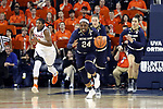 CHARLOTTESVILLE, VA - FEBRUARY 15: Notre Dame's Arike Ogunbowale. The University of Virginia Cavaliers hosted the University of Notre Dame Fighting Irish on February 15, 2018 at John Paul Jones Arena in Charlottesville, VA in a Division I women's college basketball game. Notre Dame won the game 83-69.
