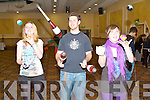JUGGLING FUN: Having fun at the Juggling Extravaganza held at the Brandon Hotel on Saturday l-r: Heather Barry, David Owens and Eve Kelleher.