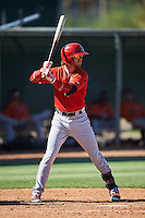 Los Angeles Angels of Anaheim Keith Grieshaber (21) during an Instructional League game against the San Francisco Giants on October 13, 2016 at the Tempe Diablo Stadium Complex in Tempe, Arizona.  (Mike Janes/Four Seam Images)