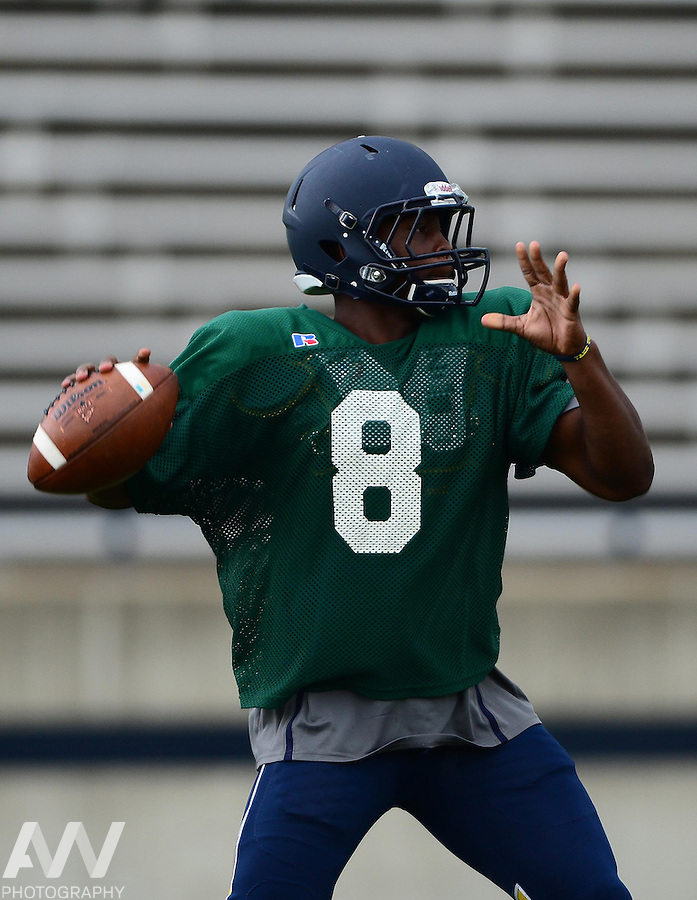 Aug 15, 2012; Toledo, OH, USA; Toledo Rockets wide receiver Bernard Reedy (1) during practice at the Glass Bowl. Mandatory Credit: Andrew Weber-US Presswire
