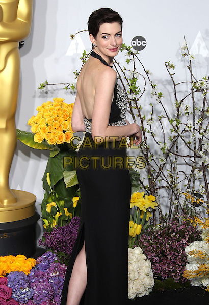 02 March 2014 - Hollywood, California - Anne Hathaway. 86th Annual Academy Awards held at the Dolby Theatre at Hollywood &amp; Highland Center. <br /> CAP/ADM/RE<br /> &copy;Russ Elliot/AdMedia/Capital Pictures