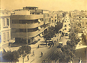 View of Allenby Road, Tel Aviv, with Bauhaus buildings, early transport, early 1930s