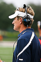 October 2, 2010:   San Diego Toreros head coach Ron Caragher watches the action during Pioneer Football League action between the San Diego Toreros and Jacksonville University Dolphins at D. B. Milne Field in Jacksonville, Florida.  Jacksonville defeated San Diego 35-28.