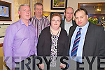 Denis Moynihan, Tim O'Brien, Catherine O'Mahony, Con Murphy and Michael O'Mahony enjoying the Rathmore social in Darby O'Gills on Friday night...