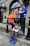Scott, Shannon, Tiegan Micala Johanne and John Cooney outside Louth County council office in Drogheda, Homeless as there landlord has not renewed there lease and unable to find further accommodation in drogheda.<br /> Picture Fran Caffrey | Newsfile