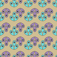 &quot;Sweet Elephants&quot; is a hand illustrated scalable vector surface pattern collection - inspired by the innocence of baby elephants and Indian ethnic decorative motifs!<br />