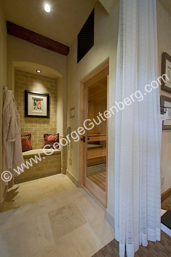 Stock photo of residential bathroom interior design stock for Master bathroom with sauna