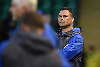 Bath Rugby Head Coach Tabai Matson looks on during the pre-match warm-up. Aviva Premiership match, between Northampton Saints and Bath Rugby on September 15, 2017 at Franklin's Gardens in Northampton, England. Photo by: Patrick Khachfe / Onside Images