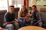 Visita Rodatge Merli. 3a temporada.<br /> I&ntilde;aki Mur, Elisabet Casanovas &amp; Pau Poch.