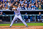 16 September 2017: Colorado Rockies first baseman Ian Desmond in action against the San Diego Padres at Coors Field in Denver, Colorado. The Rockies shut out the Padres in a 16-0 route of the second game in their 3-game divisional series. Mandatory Credit: Ed Wolfstein Photo *** RAW (NEF) Image File Available ***
