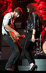 Dave Haywood and Hillary Scott of Lady Antebellum performs at Harveys Lake Tahoe in Stateline, Nev., on Friday, July 29, 2011. .Photo by Cathleen Allison