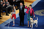Spanish President of the ONCE Miguel Carballeda accompanied by his wife (R), Prince of Asturias Award for Concord, during the 2013 Prince of Asturias Awards ceremony at the Campoamor Theater in Oviedo, Spain. October 25, 2013..(ALTERPHOTOS/Victor Blanco)