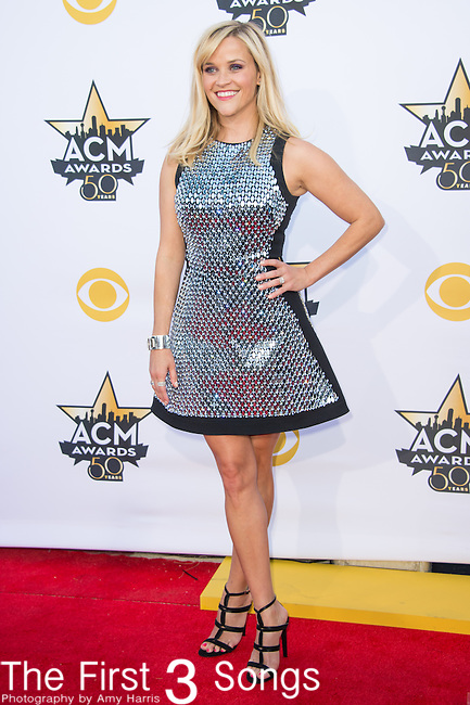 Reese Witherspoon attends the 50th Academy Of Country Music Awards at AT&T Stadium on April 19, 2015 in Arlington, Texas.