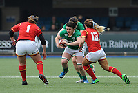 Ireland's Ciara Griffin in action during todays match<br /> <br /> Photographer Ian Cook/CameraSport<br /> <br /> Women's Six Nations Round 4 - Wales Women v Ireland Women - Saturday 11th March 2017 - Cardiff Arms Park - Cardiff<br /> <br /> World Copyright &copy; 2017 CameraSport. All rights reserved. 43 Linden Ave. Countesthorpe. Leicester. England. LE8 5PG - Tel: +44 (0) 116 277 4147 - admin@camerasport.com - www.camerasport.com
