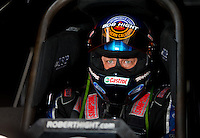 Aug 31, 2014; Clermont, IN, USA; NHRA funny car driver Robert Hight during qualifying for the US Nationals at Lucas Oil Raceway. Mandatory Credit: Mark J. Rebilas-USA TODAY Sports