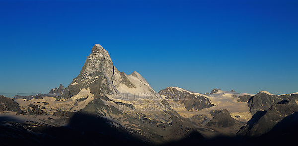 Matterhorn at sunrise, Zermatt, Swiss Alps, Switzerland, Europe