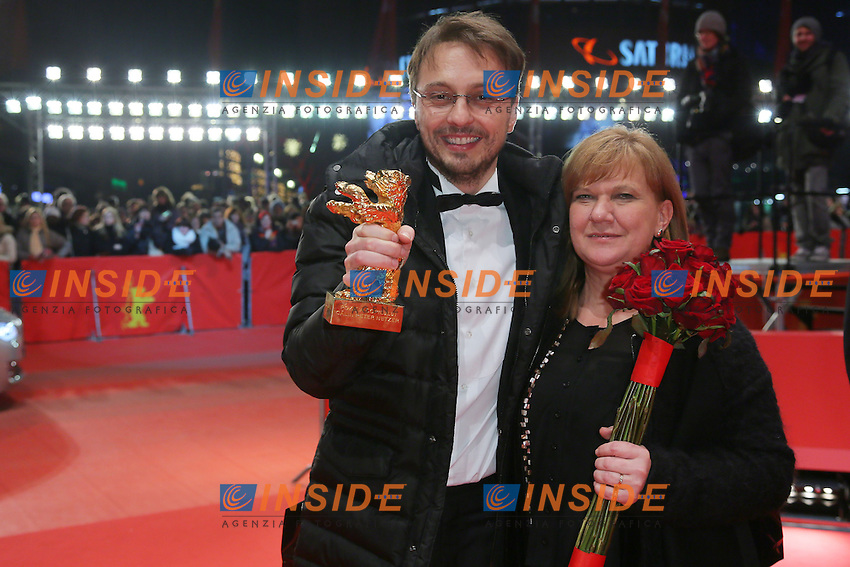 Calin Peter Netzer, Ada Solomon. Berlin 16/02/2013. 63th Berlinale Award Winners red Carpet. foto Mark Cape/Insidefoto