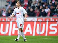 FUSSBALL   1. BUNDESLIGA  SAISON 2011/2012   34. Spieltag 1. FC Koeln - FC Bayern Muenchen        05.05.2012 Lukas Podolski (1. FC Koeln) vor einer Werbebande AUS