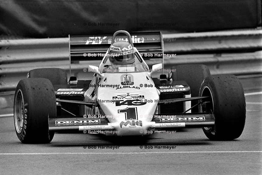 DETROIT, MI - JUNE 5: Keke Rosberg of Finland drives the Williams FW08C 7/Ford Cosworth during the Detroit Grand Prix FIA Formula 1 race on the temporary street circuit in Detroit, Michigan, on June 5, 1983.