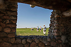 June 9, 2015; UNDERC-West students tour Double Ditch Indian Village State Historic Site overlooking the Missouri River in Bismarck, ND. (Photo by Barbara Johnston/University of Notre Dame)