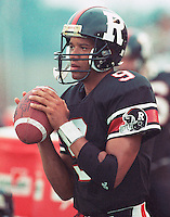Damon Allen Ottawa Rough Riders 1991. Copyright photograph Scott Grant