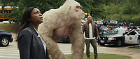 Rampage (2018)   <br /> NAOMIE HARRIS as Dr. Kate Caldwell, JASON LILES as George and DWAYNE JOHNSON as Davis Okoye<br /> *Filmstill - Editorial Use Only*<br /> CAP/MFS<br /> Image supplied by Capital Pictures