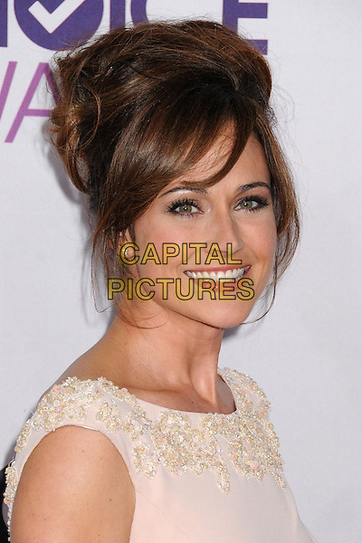 Nikki DeLoach.People's Choice Awards 2013 - Arrivals held at Nokia Theatre L.A. Live, Los Angeles, California, USA..January 9th, 2013.headshot portrait white cream hair up.CAP/ADM/BP.©Byron Purvis/AdMedia/Capital Pictures.