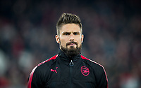 Olivier Giroud of Arsenal ahead of the UEFA Europa League group stage match between Arsenal and FC Red Star Belgrade at the Emirates Stadium, London, England on 2 November 2017. Photo by PRiME Media Images.