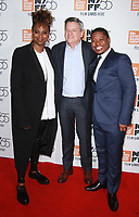 NEW YORK, NY October 12, 2017Jason Clarke, Dee Rees,  Ted Sarandos attend 55th NYFF present  premiere of Mudbound  at Alice Tully Hall in New York October 12,  2017. Credit:RW/MediaPunch
