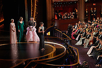 Hildur Guonadottir accepts the Oscar® for Original Score during the live ABC Telecast of The 92nd Oscars® at the Dolby® Theatre in Hollywood, CA on Sunday, February 9, 2020.<br /> *Editorial Use Only*<br /> CAP/AMPAS<br /> Supplied by Capital Pictures