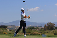 Nino Bertasio (ITA) on the 2nd tee during Round 3 of the Rocco Forte Sicilian Open 2018 on Saturday 12th May 2018.<br /> Picture:  Thos Caffrey / www.golffile.ie<br /> <br /> All photo usage must carry mandatory copyright credit (&copy; Golffile   Thos Caffrey)
