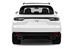 Straight rear view of a 2019 Porsche Cayenne Base 5 Door SUV stock images